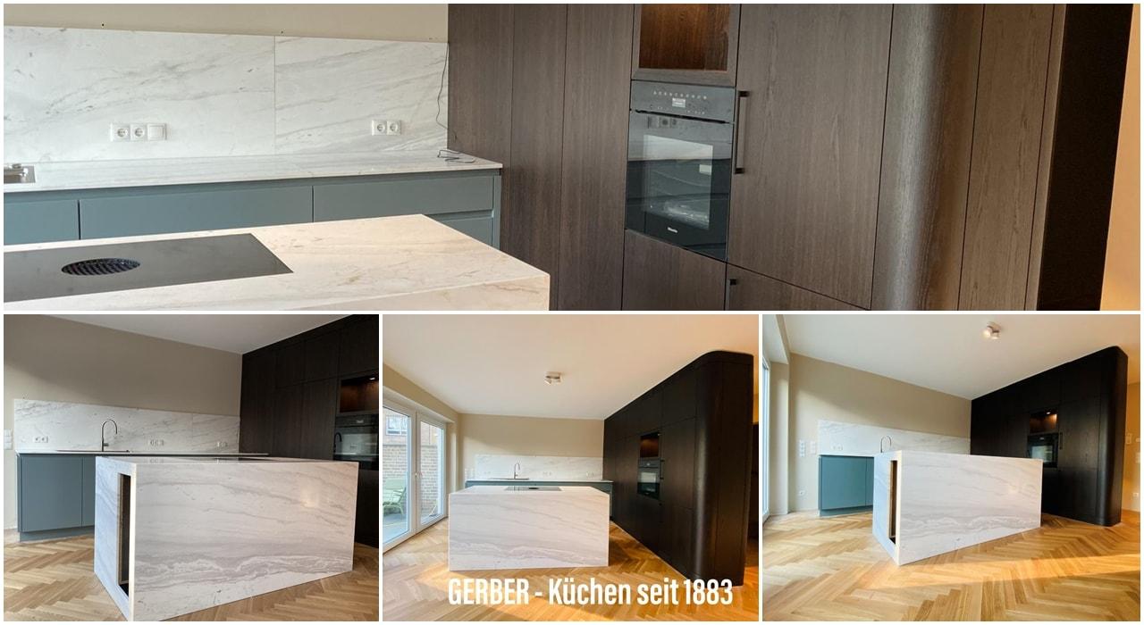 Küche Tischler Düsseldorf Marmor Räuchereiche